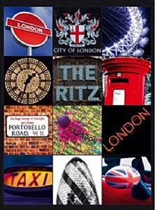 London Scenes Montage (2 - Ritz) metal sign   (fd)